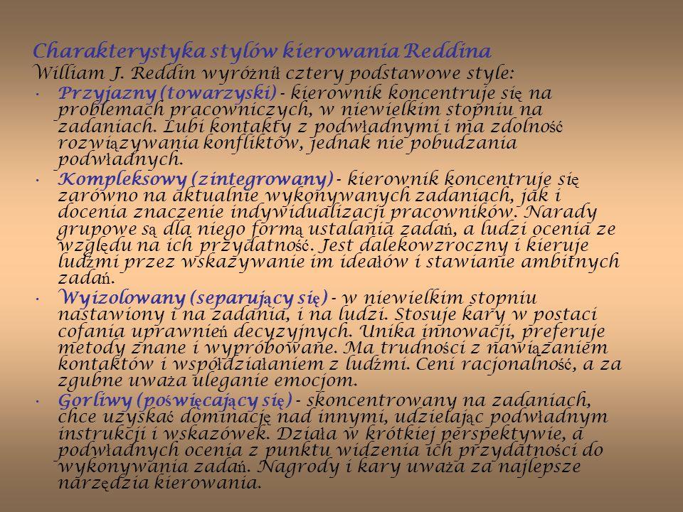 Charakterystyka stylów kierowania Reddina