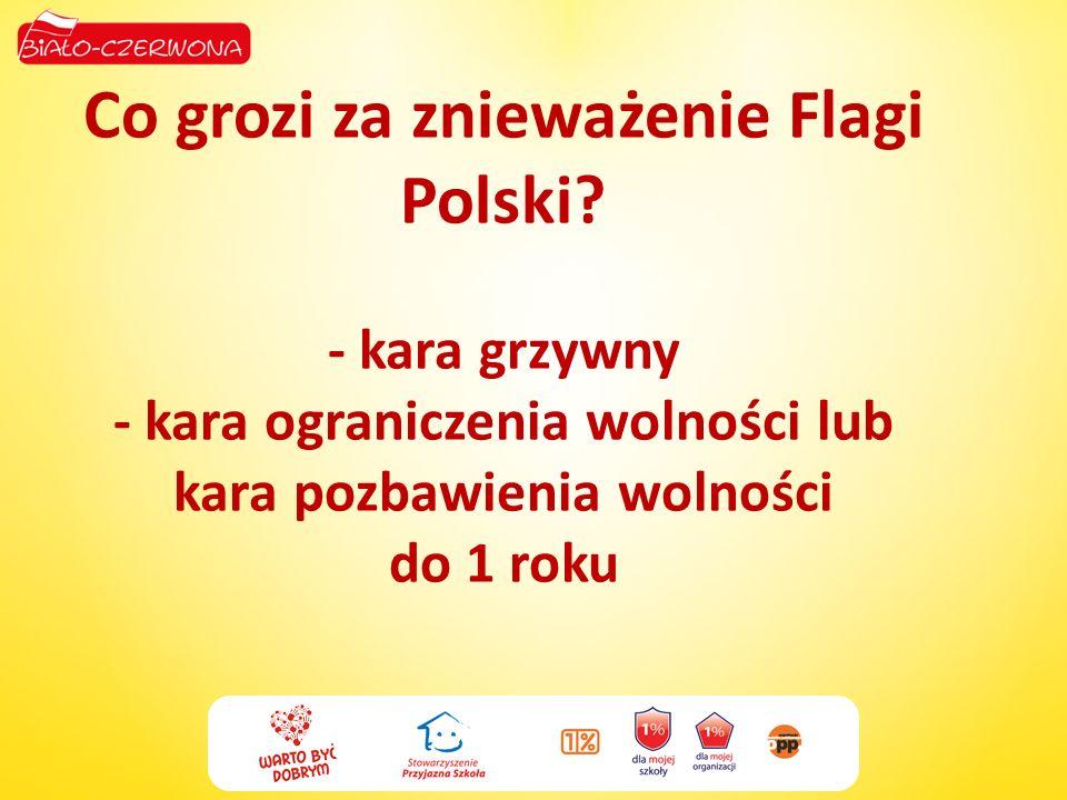 Co grozi za znieważenie Flagi Polski