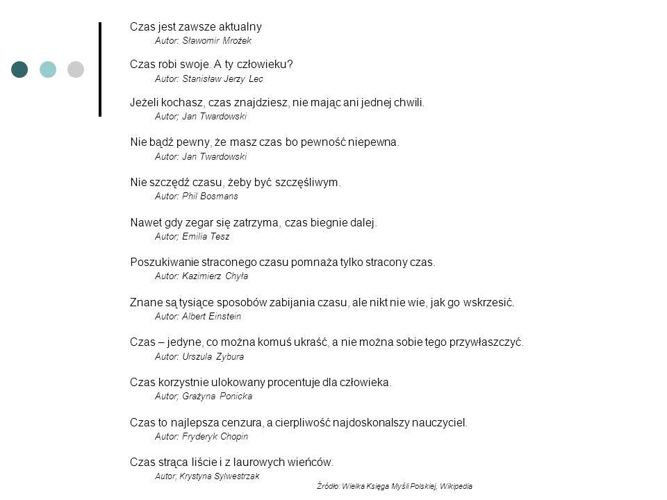 Źródło: Wielka Księga Myśli Polskiej, Wikipedia
