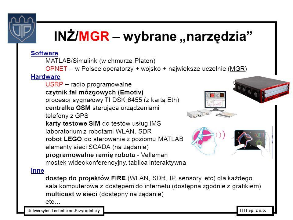 """INŻ/MGR – wybrane """"narzędzia"""