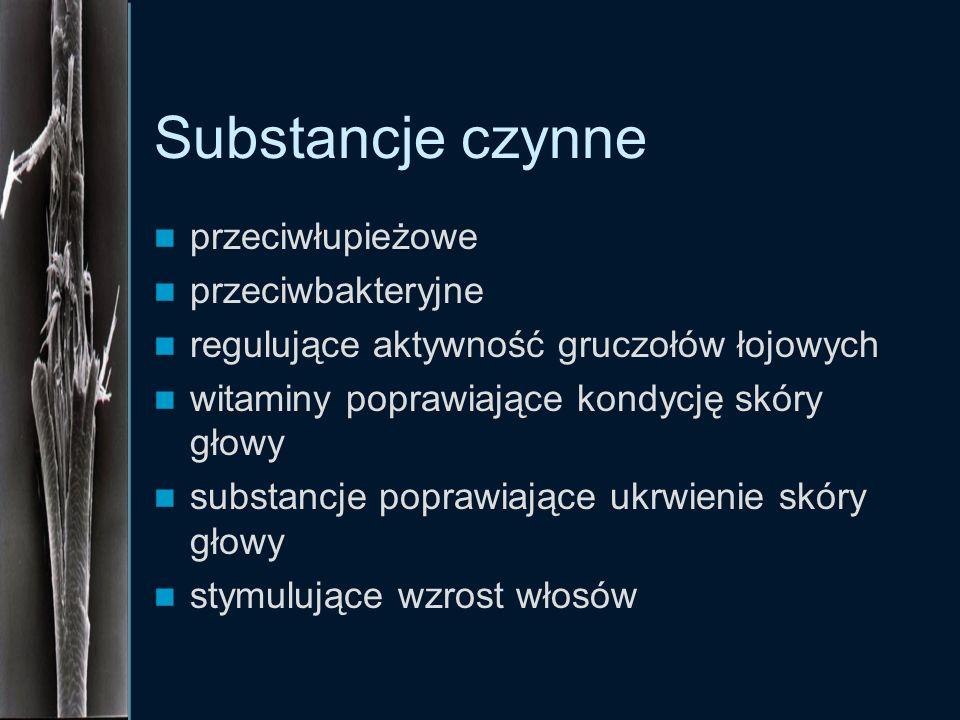 Substancje czynne przeciwłupieżowe przeciwbakteryjne