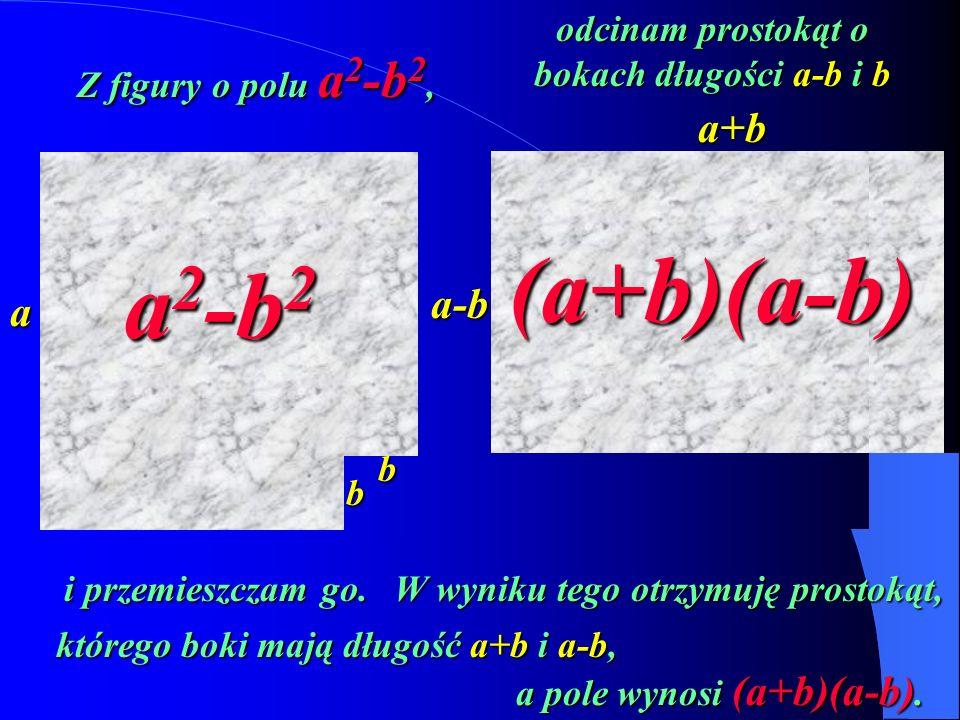 (a+b)(a-b) a2-b2 a+b a-b a odcinam prostokąt o bokach długości a-b i b