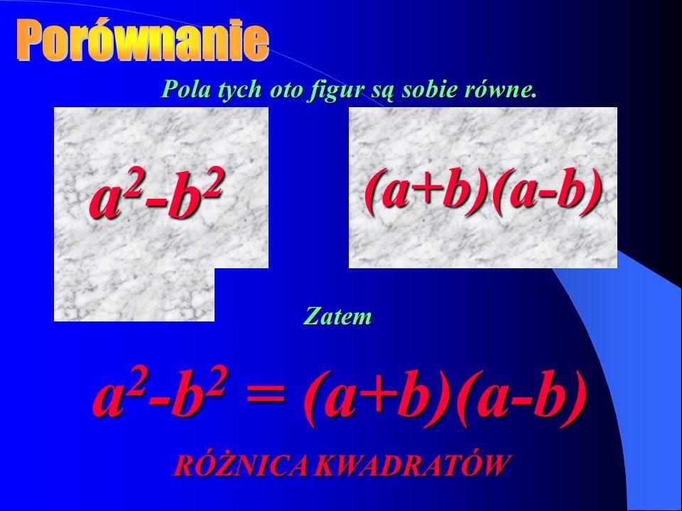 a2-b2 a2-b2 = (a+b)(a-b) RÓŻNICA KWADRATÓW