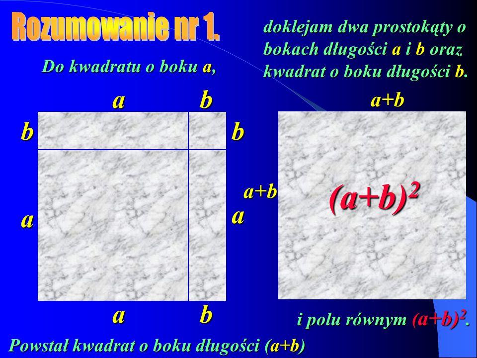 Powstał kwadrat o boku długości (a+b)
