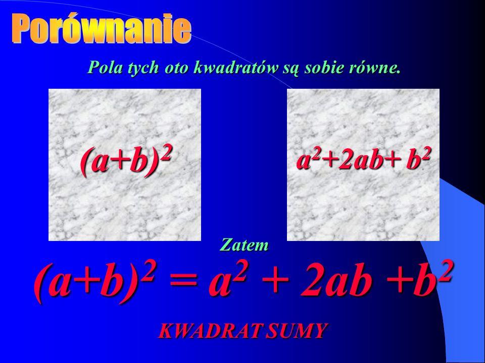 (a+b)2 = a2 + 2ab +b2 KWADRAT SUMY