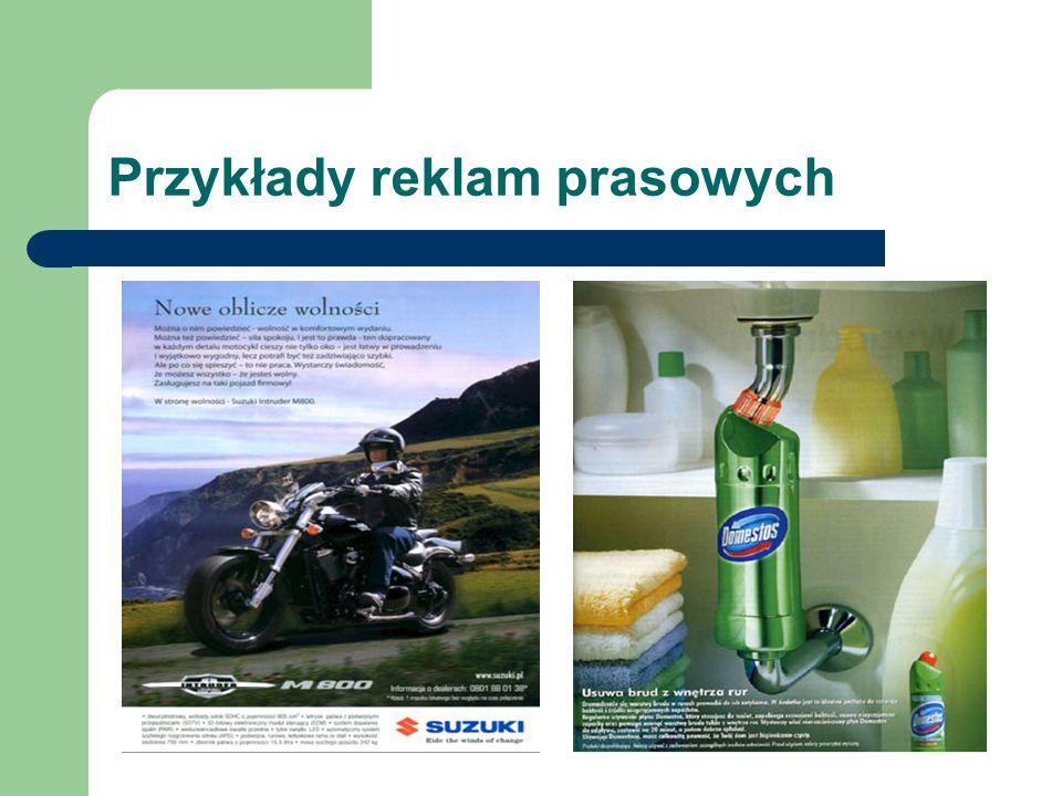 Przykłady reklam prasowych
