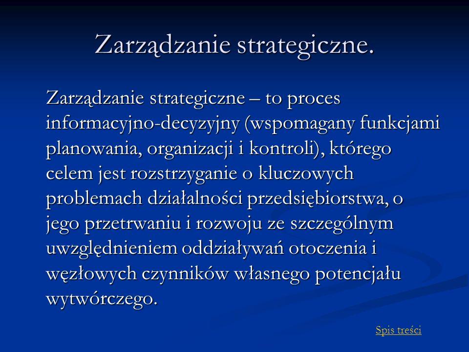Zarządzanie strategiczne.