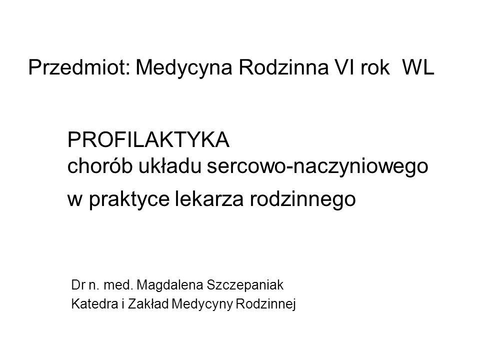 Przedmiot: Medycyna Rodzinna, Wydział LEkarski II UM Poznan, VI rok