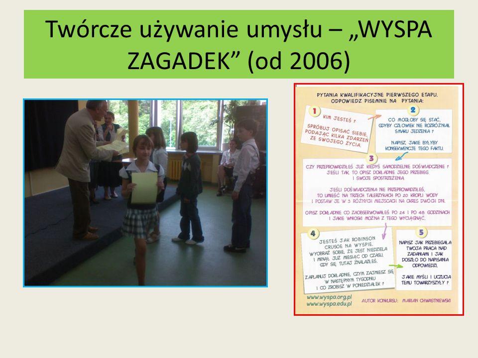 """Twórcze używanie umysłu – """"WYSPA ZAGADEK (od 2006)"""
