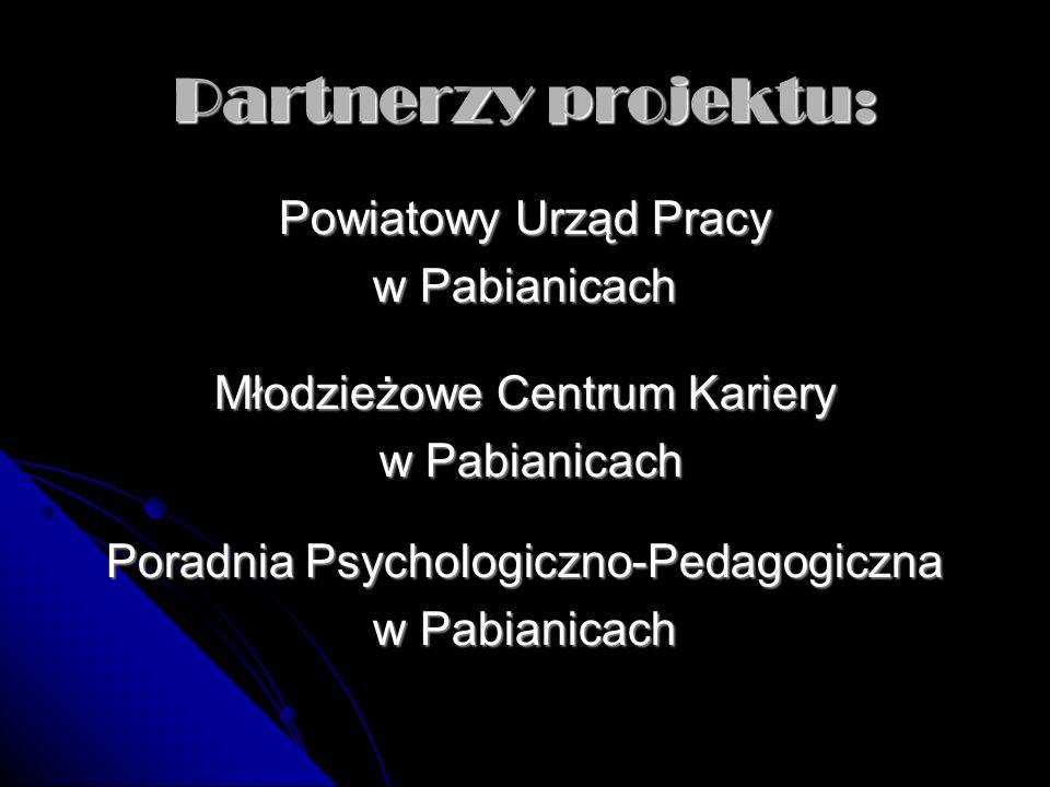 Partnerzy projektu: Powiatowy Urząd Pracy w Pabianicach