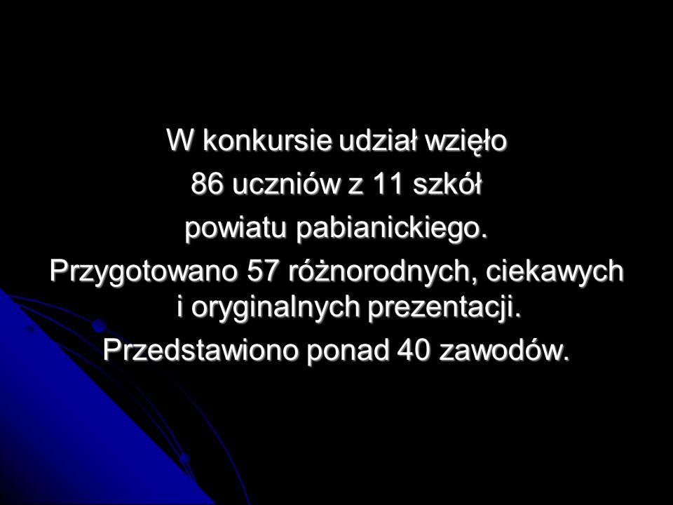 W konkursie udział wzięło 86 uczniów z 11 szkół powiatu pabianickiego.