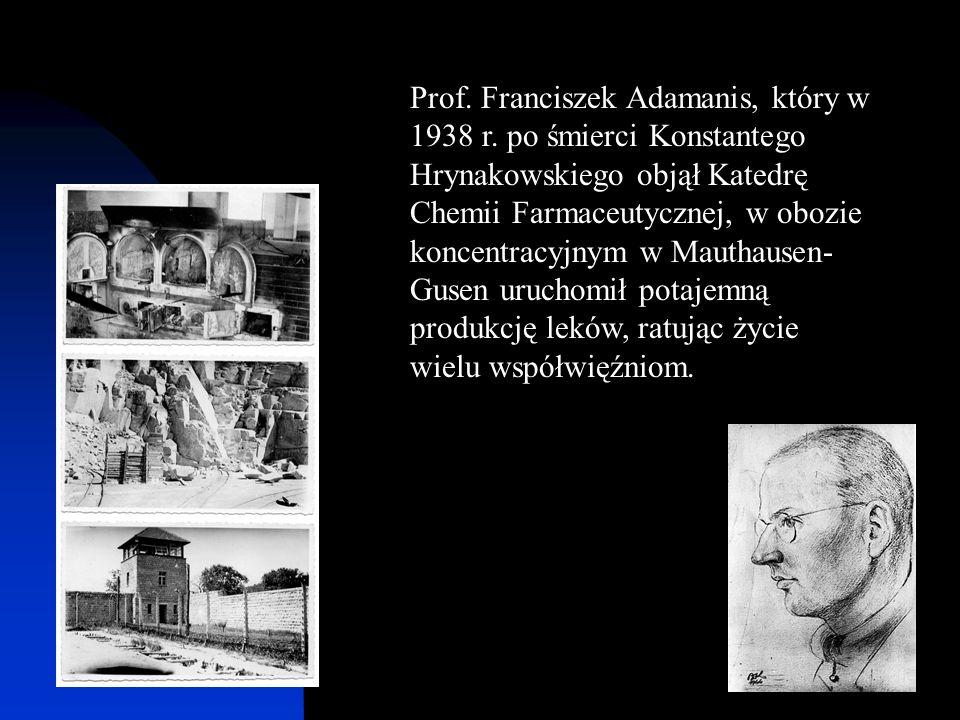 Prof. Franciszek Adamanis, który w 1938 r