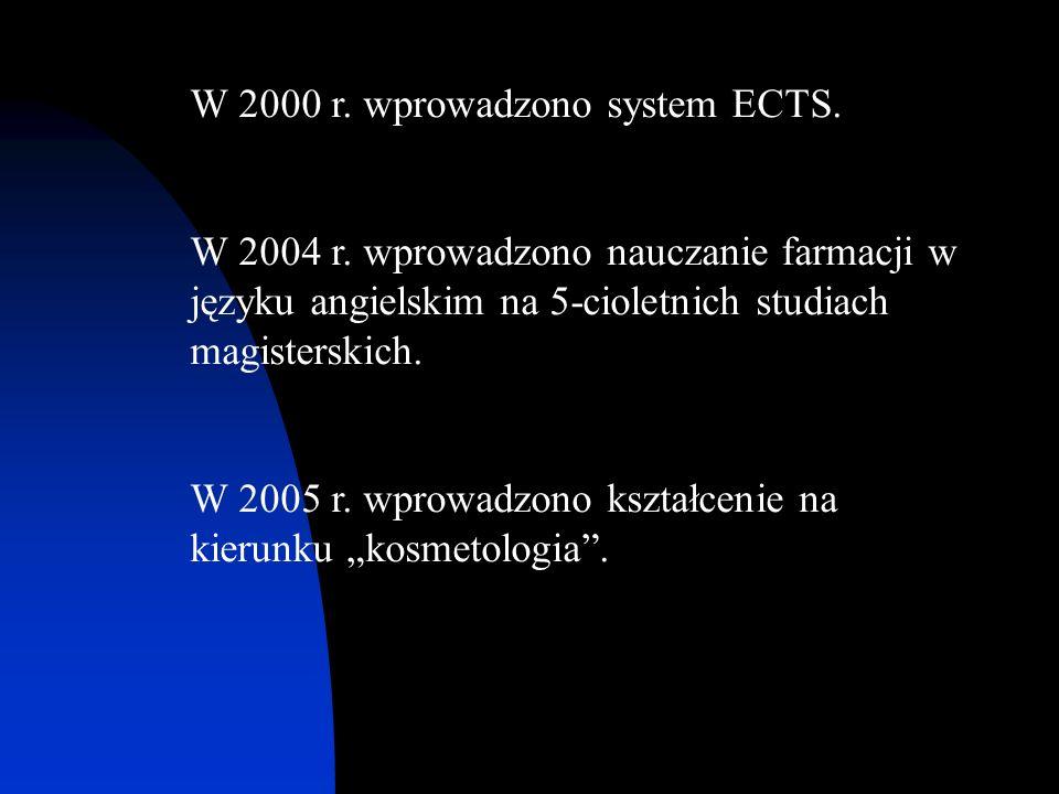 W 2000 r. wprowadzono system ECTS.