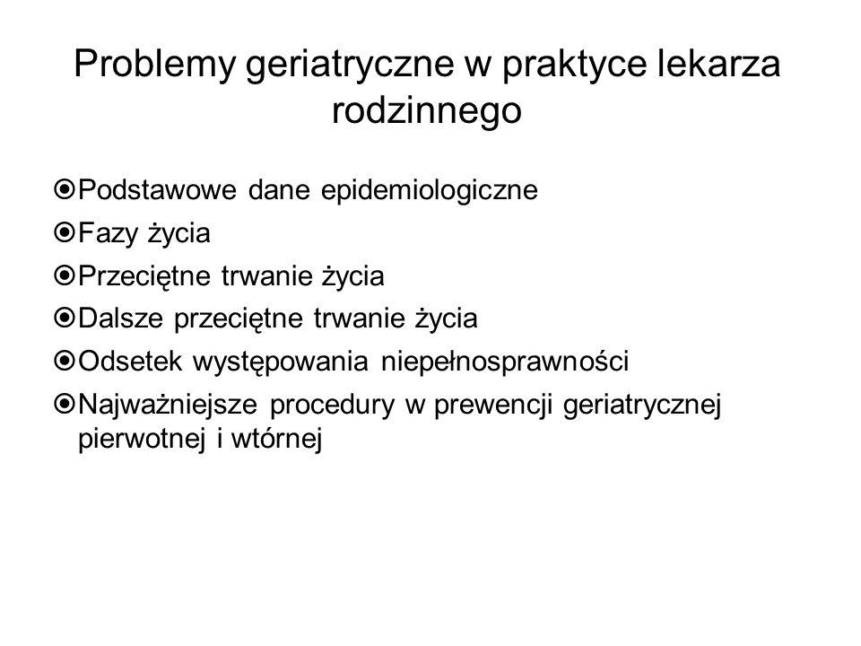 Problemy geriatryczne w praktyce lekarza rodzinnego