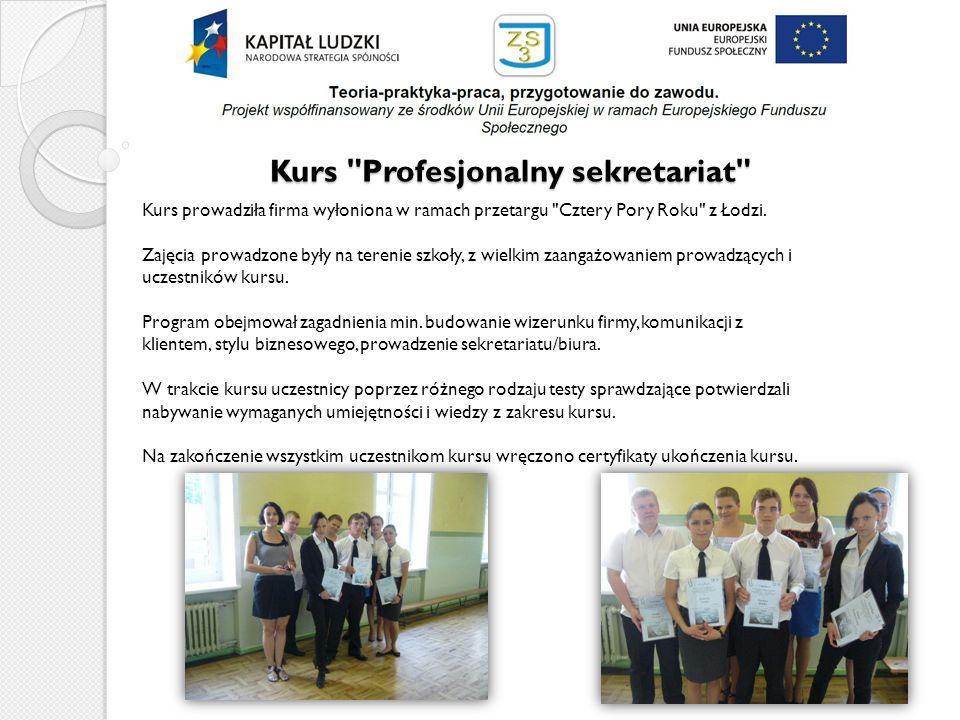 Kurs Profesjonalny sekretariat