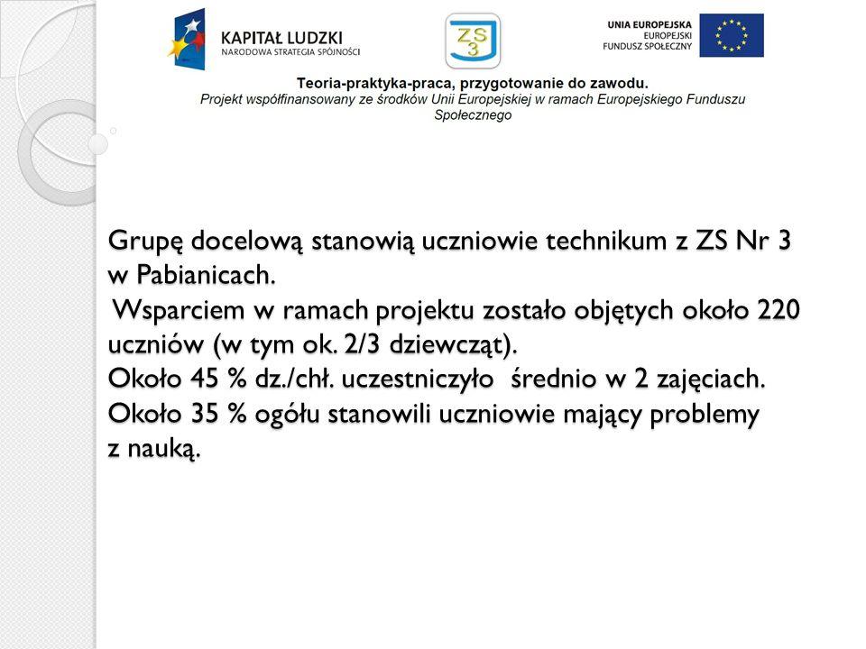Grupę docelową stanowią uczniowie technikum z ZS Nr 3 w Pabianicach