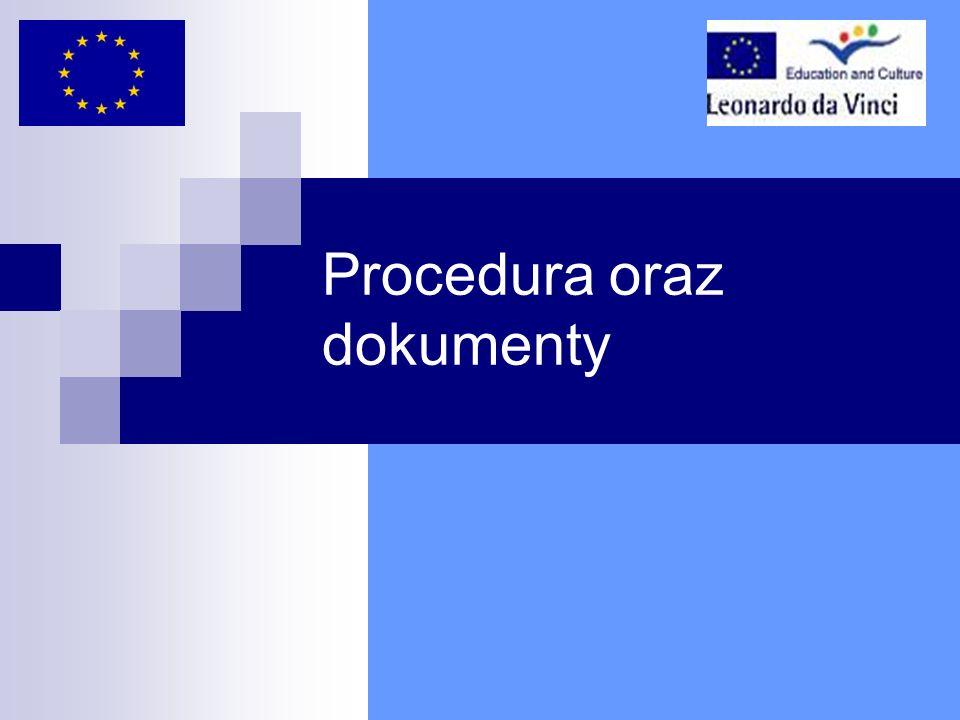 Procedura oraz dokumenty