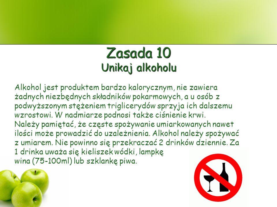 Zasada 10 Unikaj alkoholu