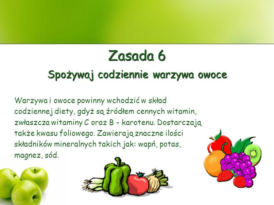 Spożywaj codziennie warzywa owoce