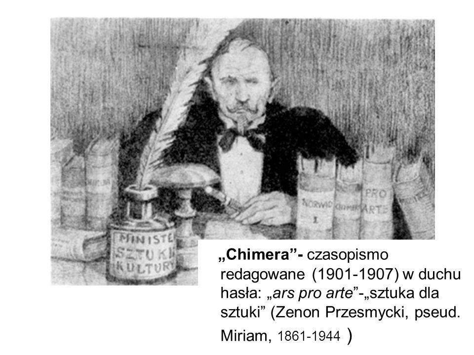 """Okładka """"Chimery z listopada 1902 roku wg projektu Edwarda Okunia."""