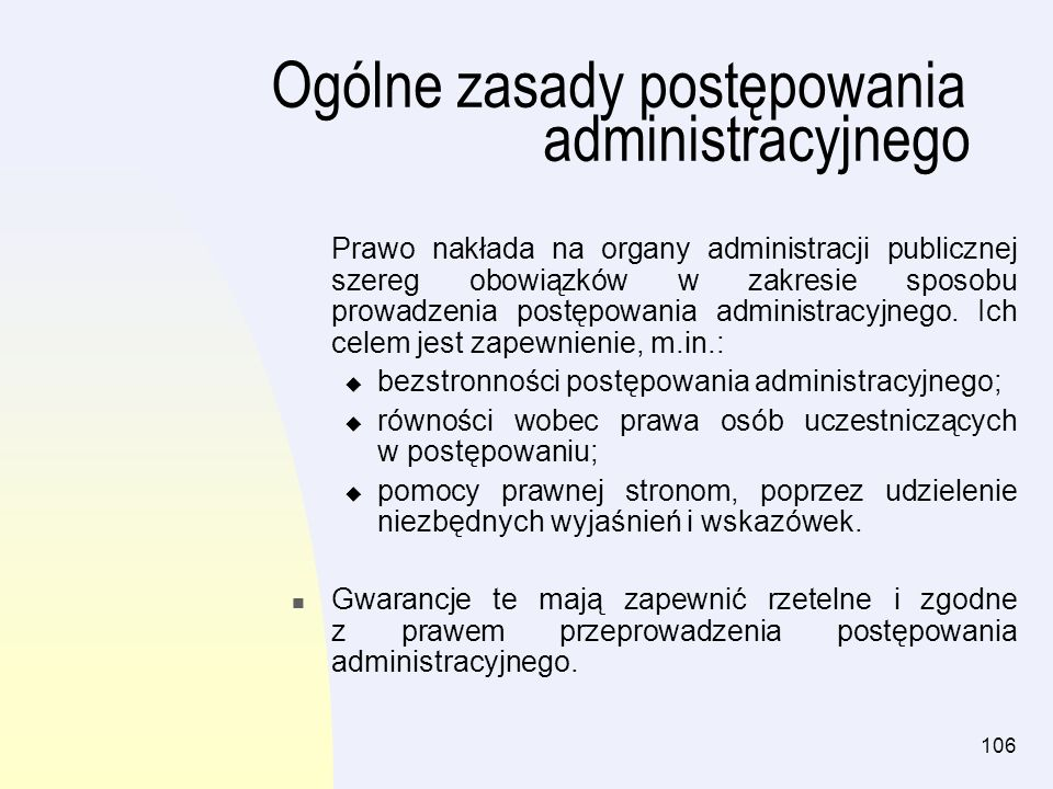 Ogólne zasady postępowania administracyjnego