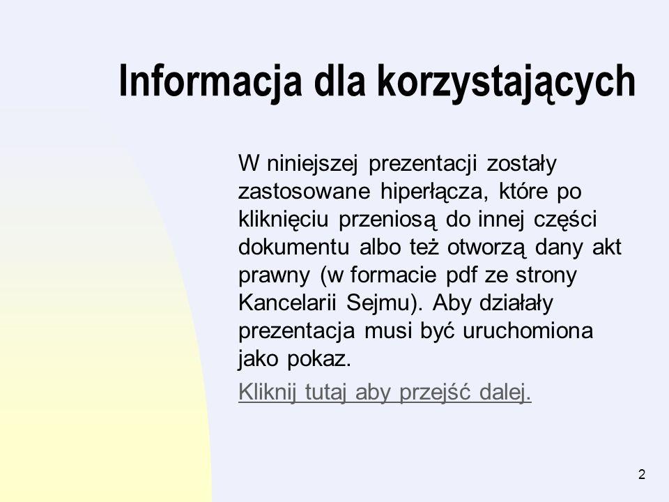 Informacja dla korzystających
