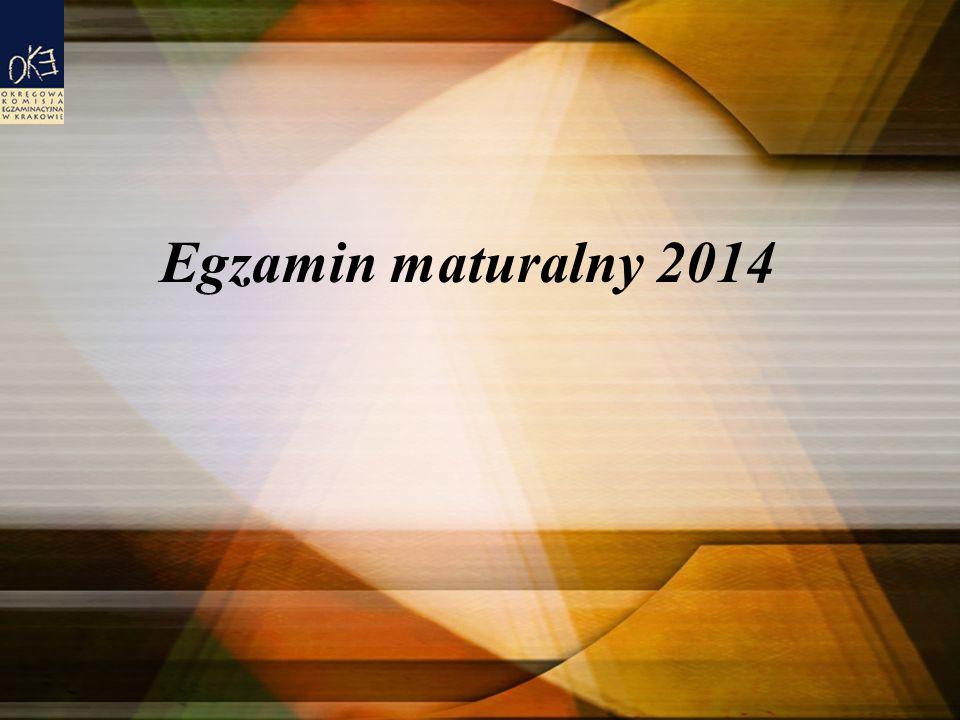 Egzamin maturalny 2014