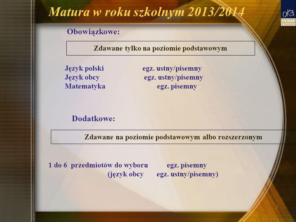 Matura w roku szkolnym 2013/2014