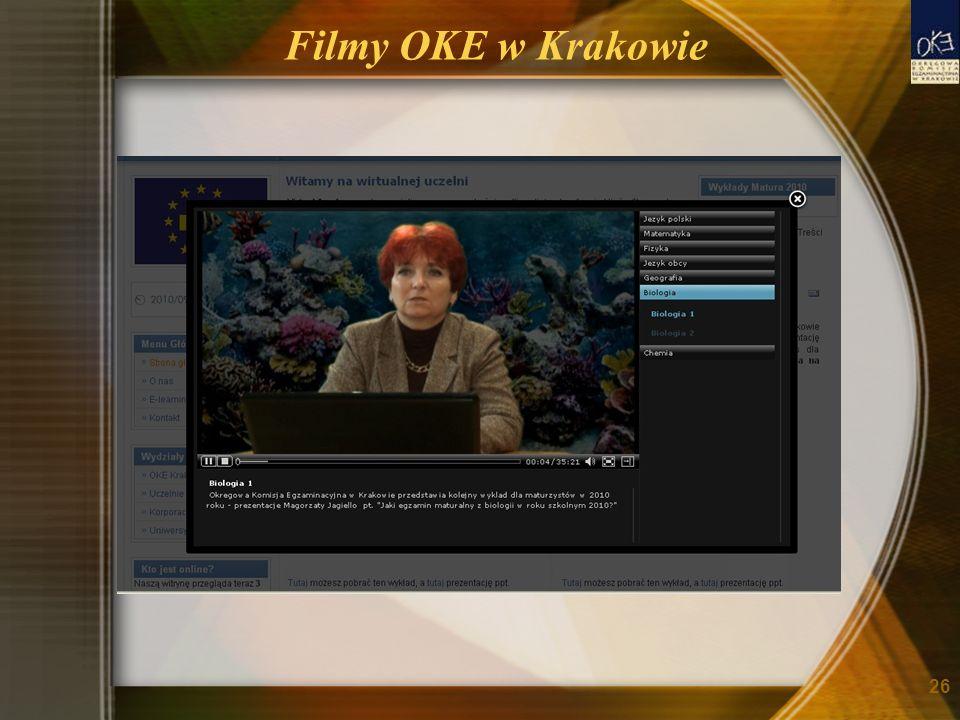 Filmy OKE w Krakowie