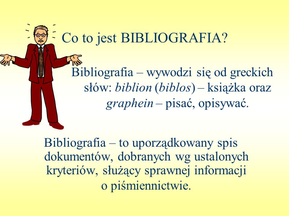 Co to jest BIBLIOGRAFIA