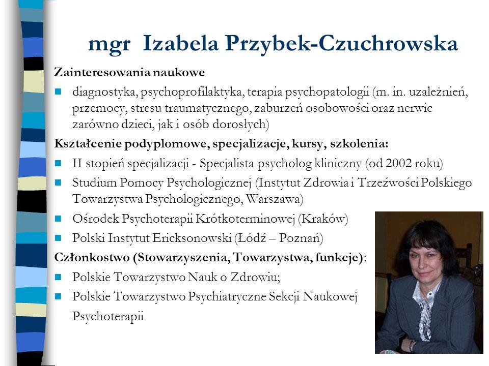 mgr Izabela Przybek-Czuchrowska
