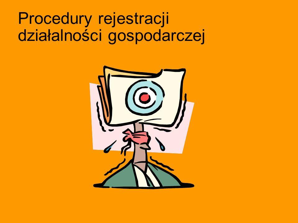Procedury rejestracji działalności gospodarczej