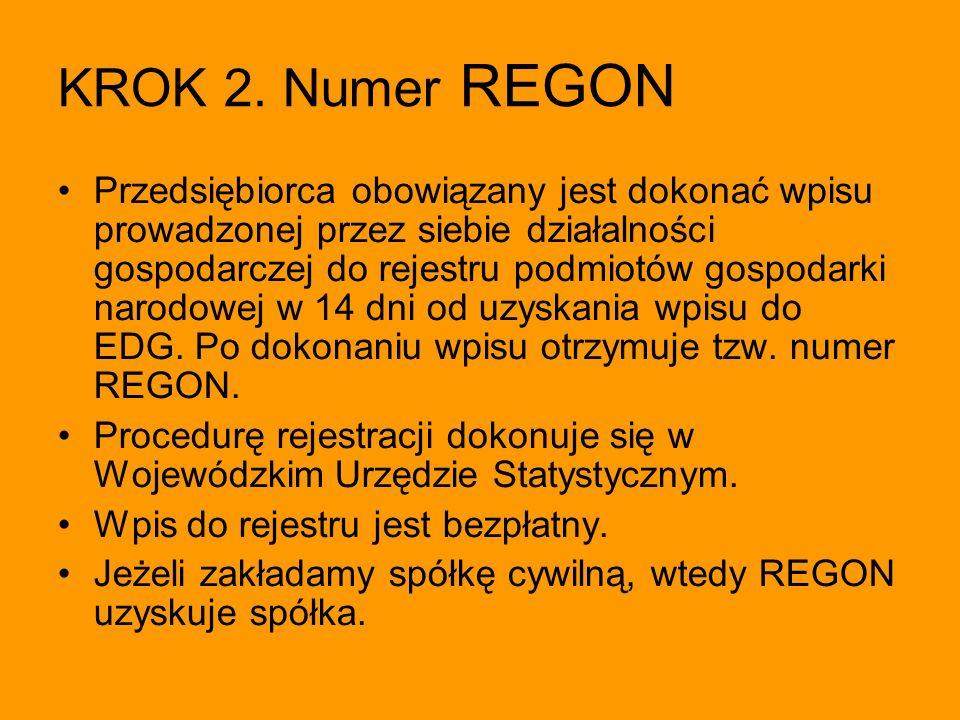 KROK 2. Numer REGON