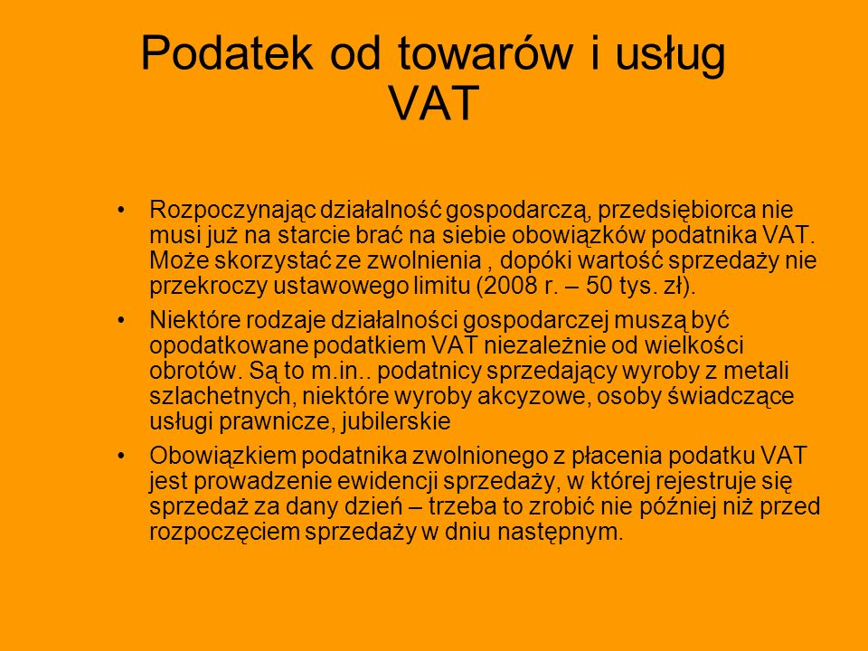 Podatek od towarów i usług VAT