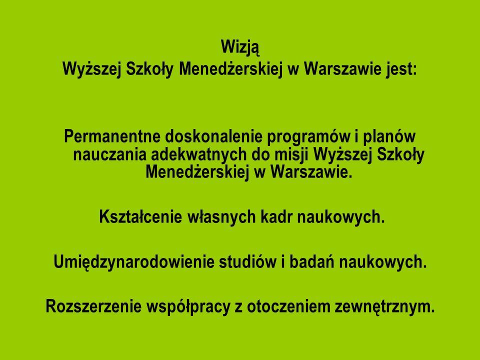 Wyższej Szkoły Menedżerskiej w Warszawie jest: