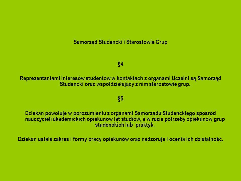 Samorząd Studencki i Starostowie Grup