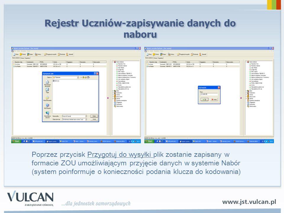 Rejestr Uczniów-zapisywanie danych do naboru