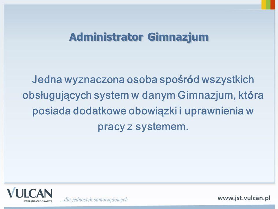 Administrator Gimnazjum