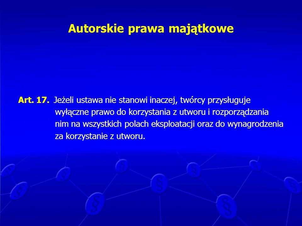 Autorskie prawa majątkowe