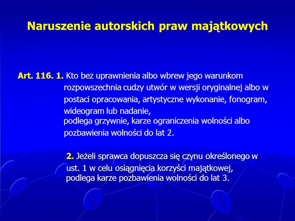 Naruszenie autorskich praw majątkowych