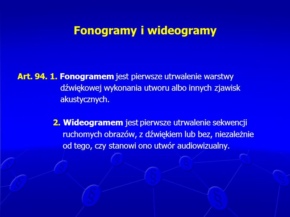 Fonogramy i wideogramy