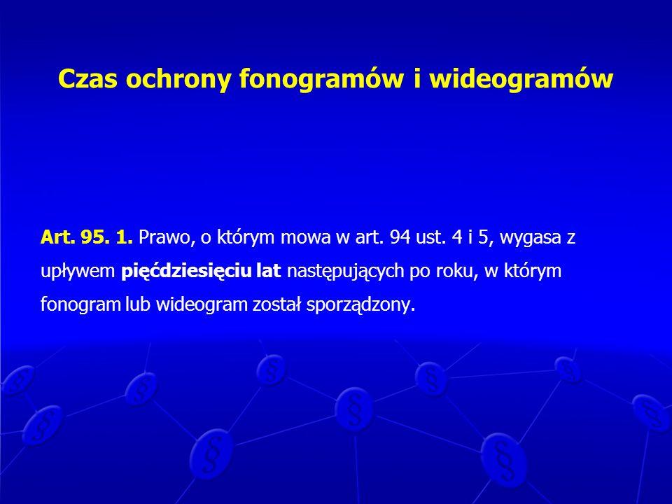Czas ochrony fonogramów i wideogramów