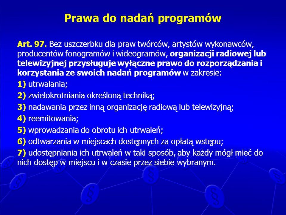 Prawa do nadań programów