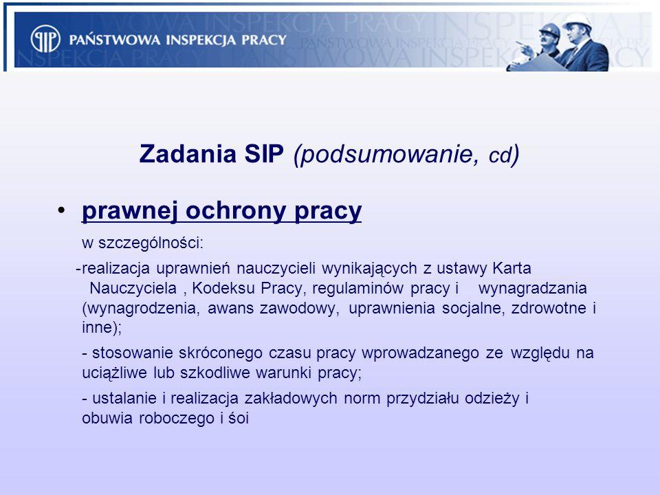 Zadania SIP (podsumowanie, cd)