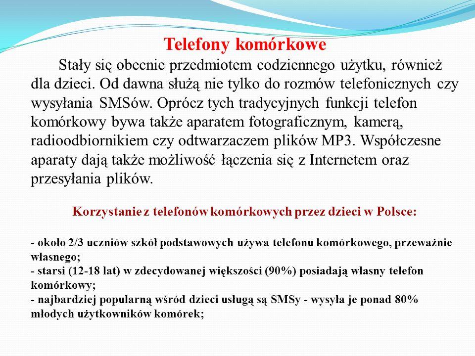 Korzystanie z telefonów komórkowych przez dzieci w Polsce: