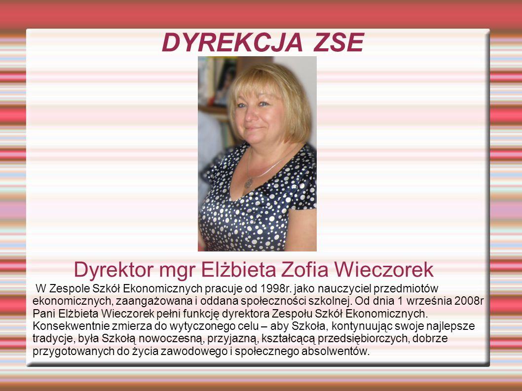 Dyrektor mgr Elżbieta Zofia Wieczorek