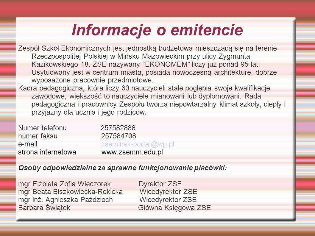 Informacje o emitencie