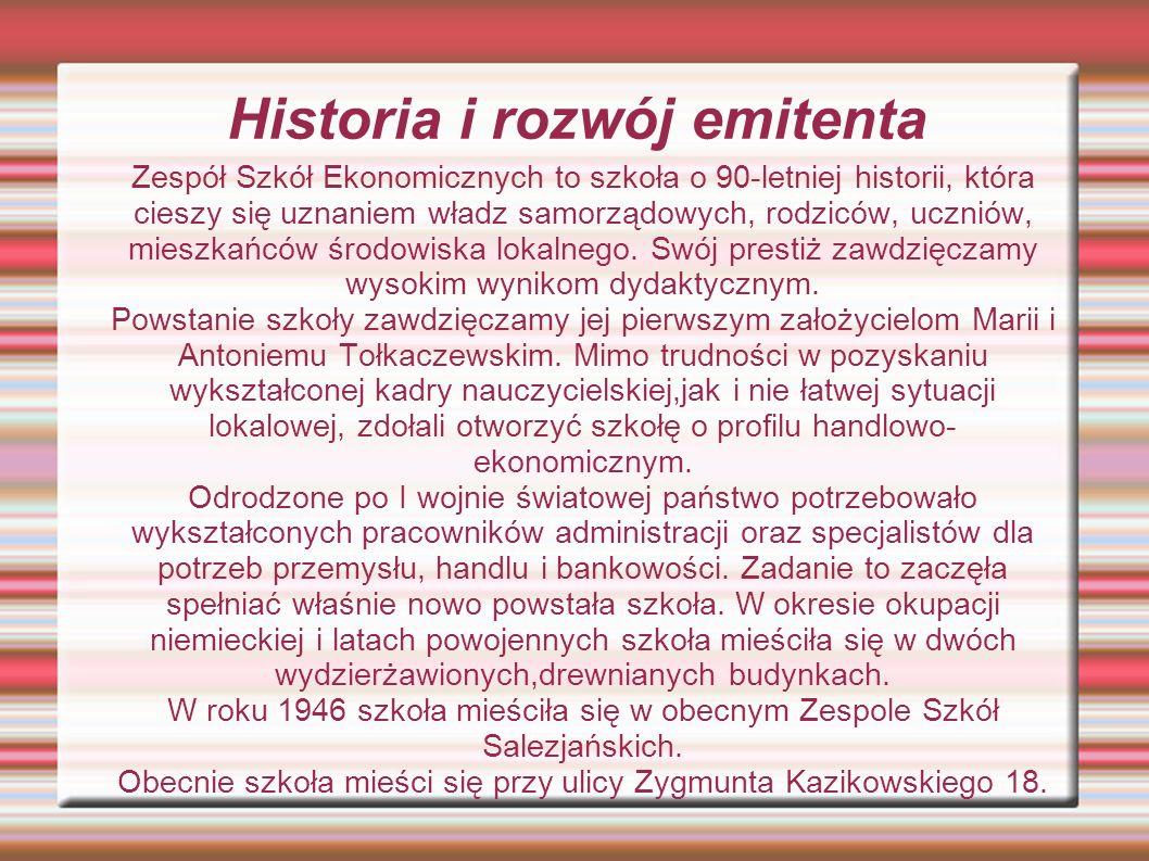 Historia i rozwój emitenta