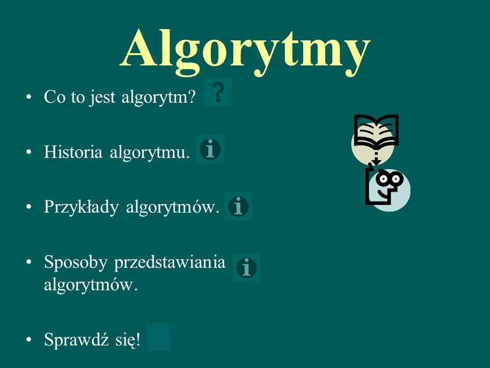 Algorytmy Co to jest algorytm Historia algorytmu.