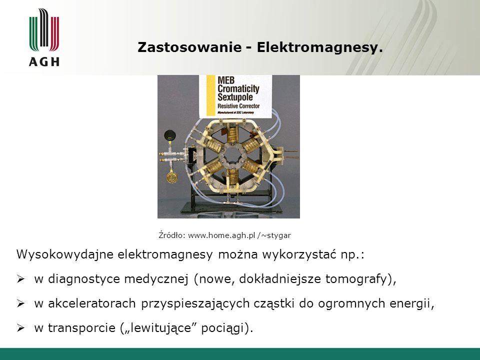 Zastosowanie - Elektromagnesy.